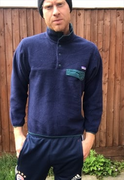 vintage PATAGONIA SYNCHILLA fleece jumper sweater XS S mens