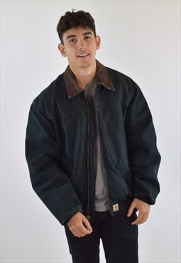 Vintage 90s Black Carhartt Collared Workwear Jacket