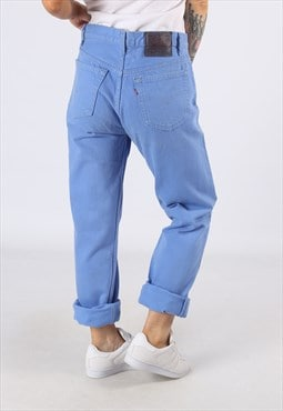 LEVIS 501's Denim Jeans Boyfriend High Waisted UK 12  (D83I)