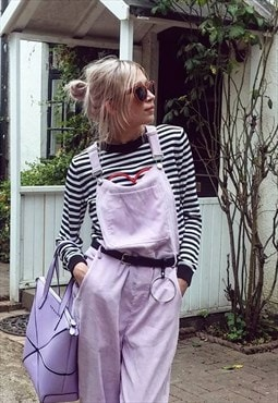Lilac Cord Dungarees Jumpsuit All In One