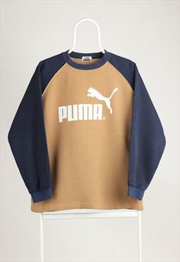 Vintage Puma Crewneck Logo Sweatshirt Beige