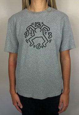 Keith Haring Dancing Clock Grey T-shirt (S)