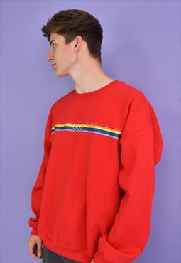 G&G Unisex Red Rainbow Ribbon Sweat