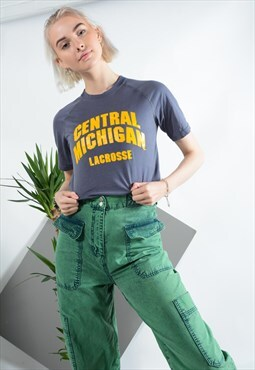 Vintage Adidas Michigan T-shirt in Grey.