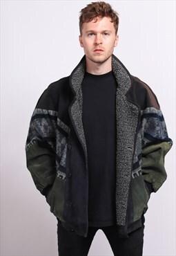Vintage Aztec Inca Festival Fleece Jacket