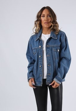 Denim Jacket Oversized Fitted JOHN BANER UK 16  (G95H)