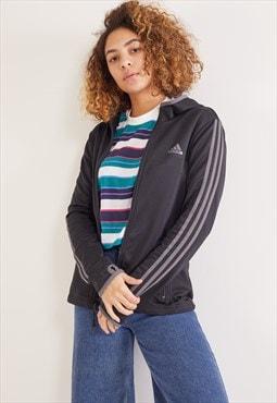 Vintage Adidas Zip-Up Hoodie Black