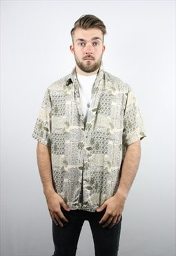Vintage WAVEY Festival Short Sleeve Party Shirt