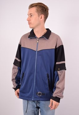 Vintage Lotto Tracksuit Top Jacket Blue