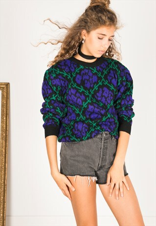 VINTAGE 80S CASUAL KNIT JUMPER / R03108