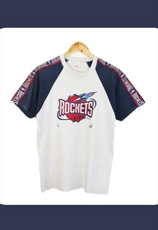 Vintage 90's Grey Champion NBA Houston Rockets T-shirt
