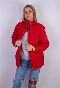 Vintage Helly Hansen Red Windbreaker Waterproof Coat