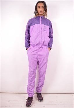 Diadora Mens Vintage Full Tracksuit Large Purple 90s