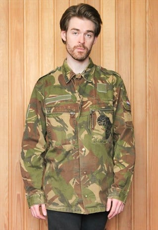 VINTAGE GREEN CAMO ARMY SHIRT