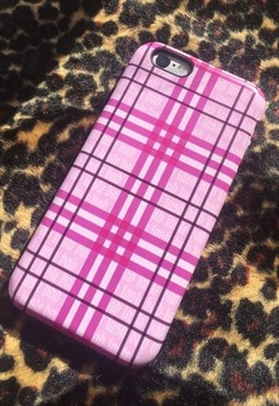 Pink Tartan Apple iPhone protective case