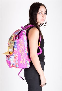 Vintage Invicta Backpack Rucksack Pink
