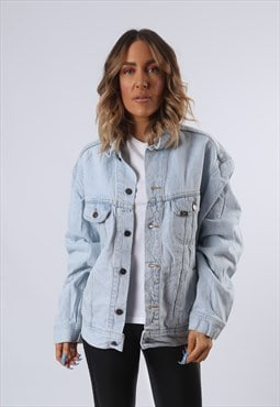LEE Denim Jacket Oversized Fitted UK 18 (B6AM)