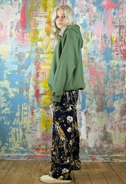 Trousers & Hoodie Co-Ordinates in bird & flower print