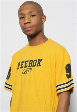 Vintage reebok T Shirt Yellow