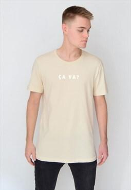 Beige CA VA? (White) T-Shirt