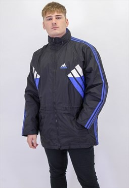 Vintage Adidas Padded Jacket in Black