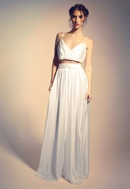 Wedding/ evening skirt and short top perfect for brides