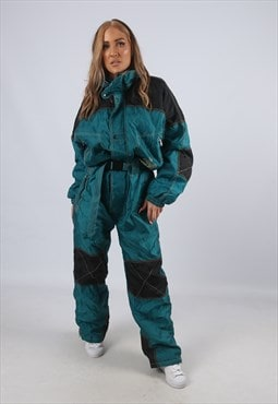 Vintage LOGAN Full Ski Suit Snow TALL UK 16 XL (M3A)