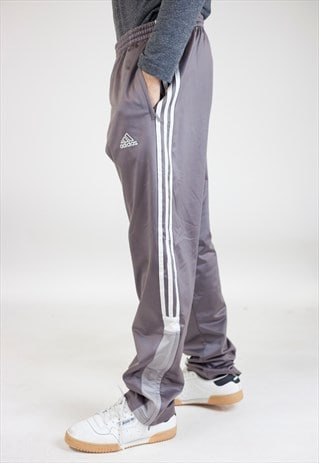 VINTAGE 90S ADIDAS GREY/SILVER TRACKSUIT BOTTOMS