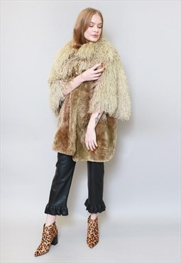 Vintage 1970's Stunning Premium Brown Shearling Coat