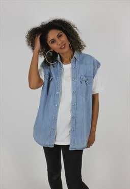 Oversized Levi's Denim Sleeveless Shirt