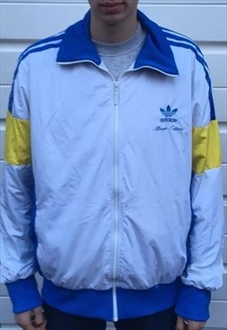 Mens white rare adidas allcourt edition zipper adidas jacket