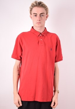 Polo Ralph Lauren Mens Vintage Polo Shirt XL Red 90s
