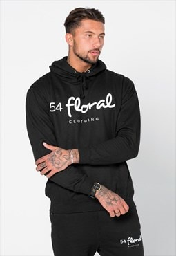 54 Floral Large Graphic Hoody - Black