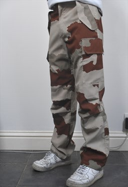 Vintage army trousers combat cargo camo bottoms camouflage