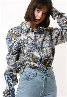 90s Vintage JUST CAVALLI Oldschool Shirt 16581