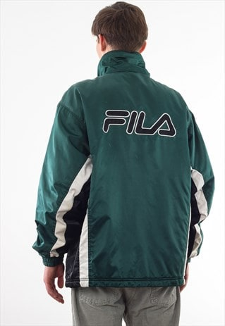 VINTAGE FILA PADDED WINTER COAT 90S BLUE BIG LOGO