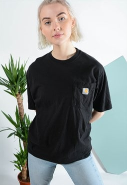 Vintage Carhartt t-shirt in black with logo on pocket