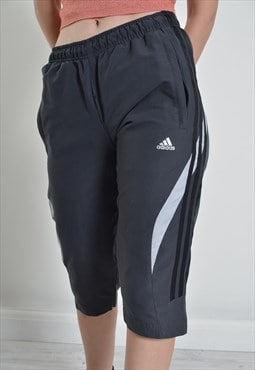 Vintage Adidas 3/4 Length Y2K Shorts Grey