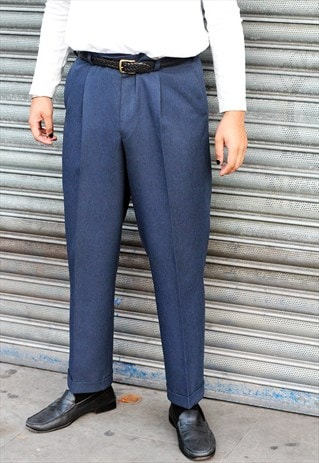 VINTAGE 80S YVES SAINT LAURENT CLASSIC WOOL TROUSERS