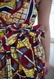 VINTAGE 90'S MULTI COLOUR PATTERNED MINI DRESS
