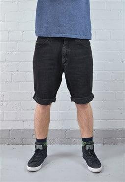 Vintage Lee Charcoal Grey Denim Shorts