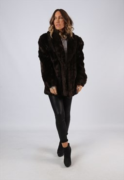 Faux Fur Coat Jacket  Vintage UK 16 XL (LW3C)