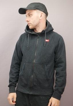 Vintage Nike Zip Up Hoodie in Black with Logo
