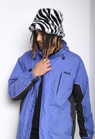 VINTAGE FILA PADDED COAT BLUE