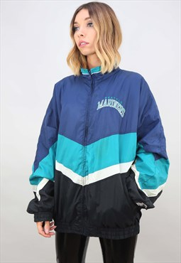 Vintage Oversized Seattle Mariners Windbreaker Jacket