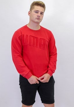 Vintage Puma Sweater In Red