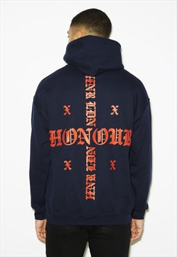 Honour Cross Navy Hoody