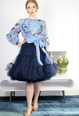 Navy Tutu skirt - 6 layers tulle