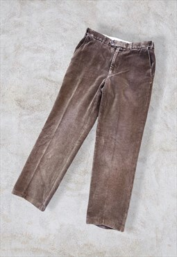 Vintage St. Michael Corduroy Cord Trousers Brown W34 L30