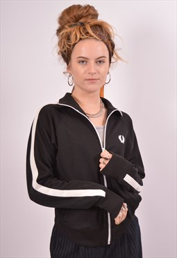 Vintage Fred Perry Tracksuit Top Jacket Black